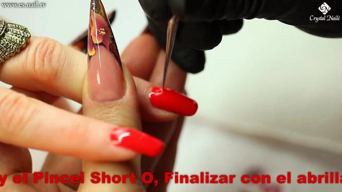 Moda de Invierno: Rojo y Nail Art de brillo !