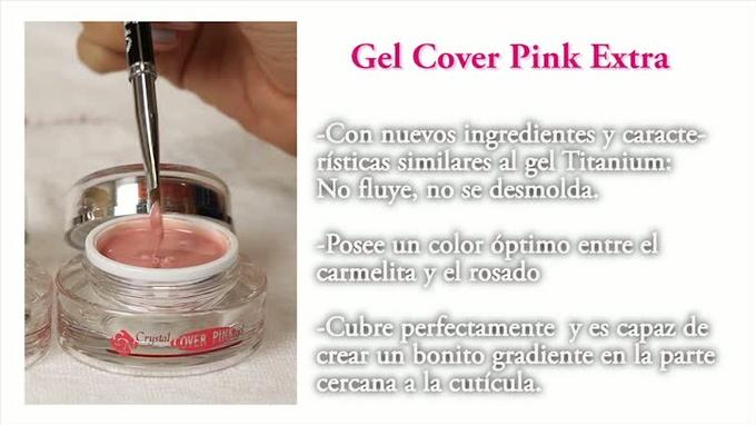 Los geles camuflajes COVER PINK de Crystal Nails.