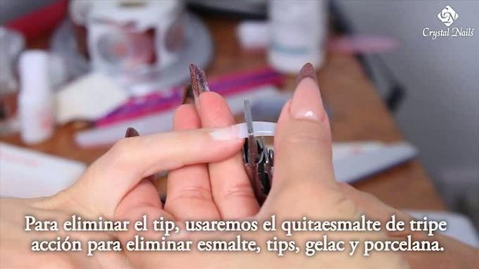 Eliminar Tips de uñas artificiales.